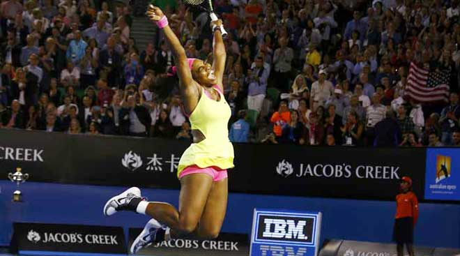 At Rod Laver Arena, title number six for Serena