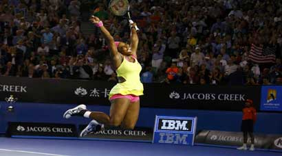 At Rod Laver Arena, title No. 6 for Serena