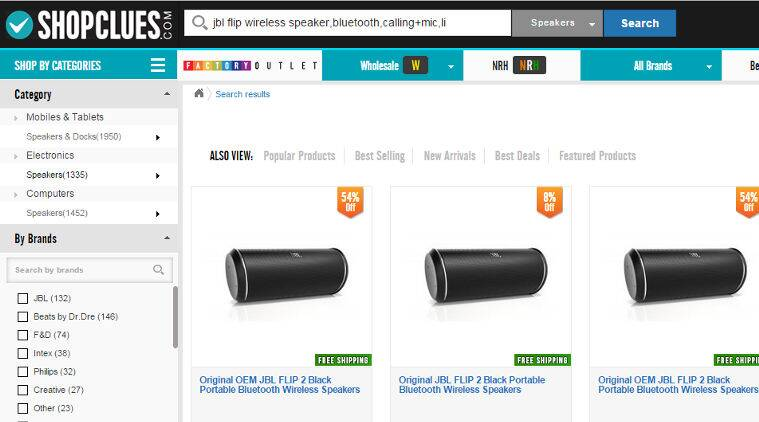 Harman, JBL, Shopclues.com, fake JBL speakers