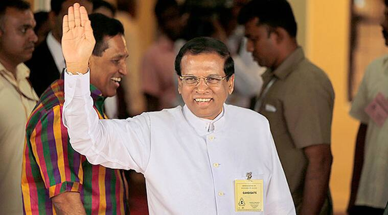 Maithripala Sirisena, sri lanka president, Sirisena sworn-in as Sri Lanka's new President