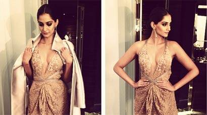 Sonam Kapoor shines at Armani Couture show in Paris, meets Giorgio Armani