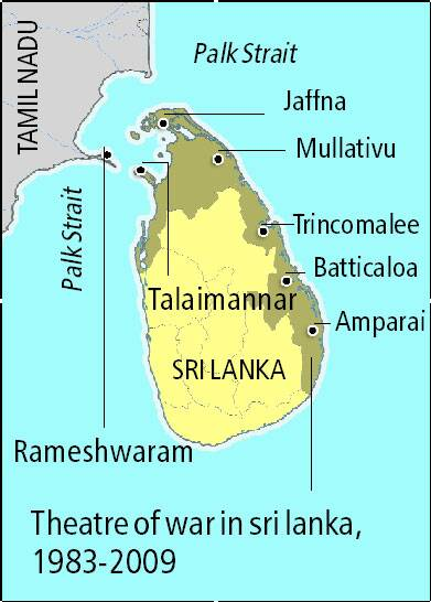 Most of the refugees crossed the 29 km of sea from Talaimannar on Mannar Island to Rameshwaram on Pamban Island.