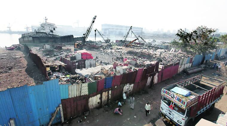 The shipbreaking yard at Darukhana, Mazgaon. High toxicity levels in the area mean it will take up to five years for soil quality to be restored for habitation.