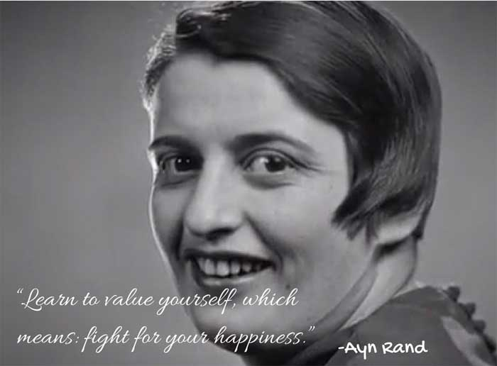 16 Inspiring Quotes By Best Selling Author Ayn Rand On Her