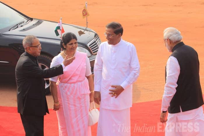 PM Modi, Sri Lankan President, Sri Lanka President Sirisena, Sri Lankan new President, Sri Lanka state visit, India Sri Lanka, India Sri Lanka relations, Narendra Modi, India president Pranab Mukherjee, Manohar Parrikar, Najeeb Jung, Swadananda Gowda, india news, modi pictures, sri lanka news