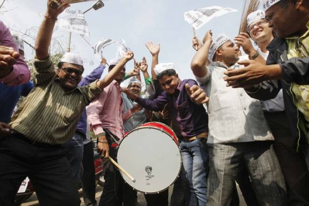 Delhi Elections: AAP celebrates party victory in Assembly polls