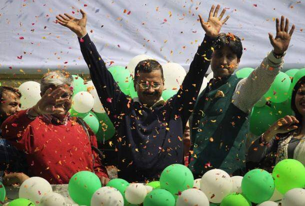 Aam aadmi party, arvind kejriwal win, AAP arvind kejriwal, Arvind kejriwal, AAP win, delhi assembly elections, delhi assembly polls, delhi polls, delhi chief minister, delhi CM, delhi news, indian express