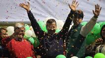 First pictures of Arvind Kejriwal's second innings