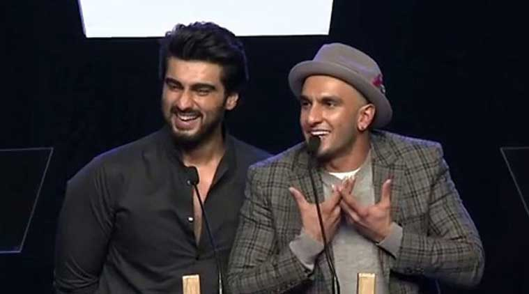 Ranveer Singh and Arjun Kapoor at AIB knockout event