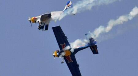Accident averted after aircrafts scrape mid-air atairshow