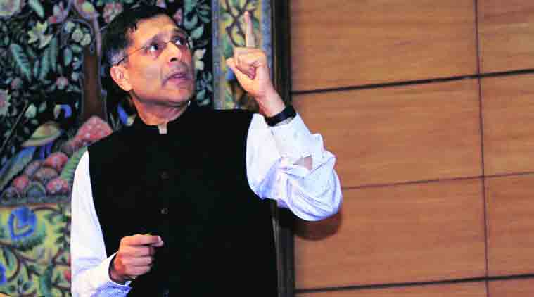 Chief Economic Adviser Arvind Subramanian at a press conference on the Economic Survey 2014-15 in New Delhi on Friday. (Source: Express photo by Prem Nath Pandey)
