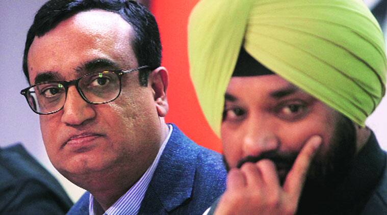 Campaign chief Ajay Maken's (left) role is likely to reduce while DPCC chief Arvinder Lovely will rebuild the party. (Source: Express Archive )