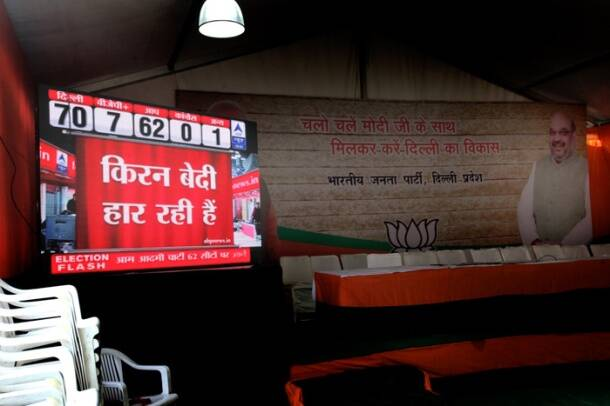 Delhi Elections: BJP, Congress office wear deserted look after poll debacle