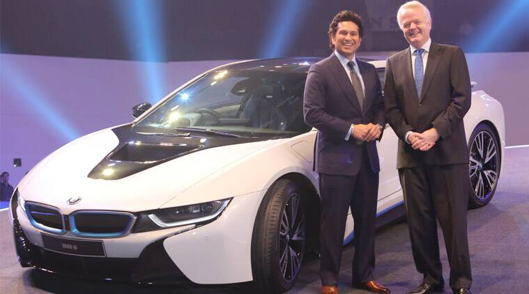 BMW i8, BMW i8 launch, BMW Sachin, BMW i8 Sachin launch