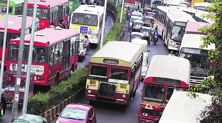 18 bus depots are needed for PMPML. There are only 10 for both Pune Municipal Corporation and Pimpri Chinchwad Municipal Corporation areas. (Source: Express Archive)