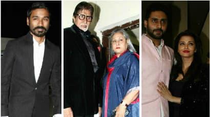 Amitabh Bachchan, Dhanush, Aishwarya , Abhishek