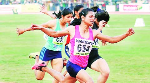 Dutee Chand clocked 11.76 seconds. (Express photo)