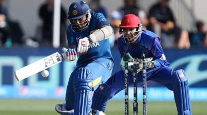 World Cup 2015: Sri Lanka edge Afghanistan in nervy thriller