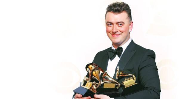 Sam Smith at the 57th Grammy Awards. ( REUTERS)