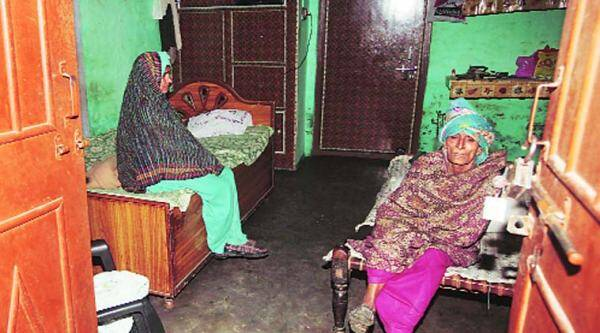 Family members of Sombir, who committed suicide, at Bahu Akbarpur, Monday.