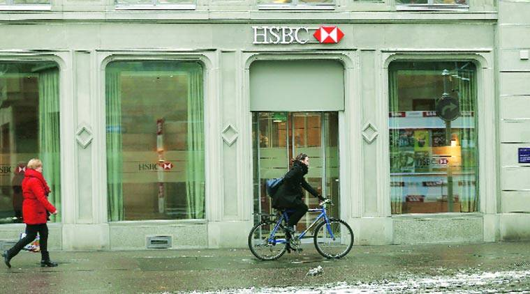 GLOBAL BREAK: HSBC bank at Paradeplatz in Zurich on Monday. ( Source: Reuters)