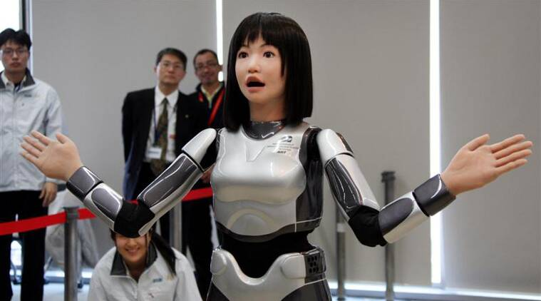 Robots, japan robots, Human like robots, Huis Ten Bosch, Japan, japan news, world news, world trending now, indian express