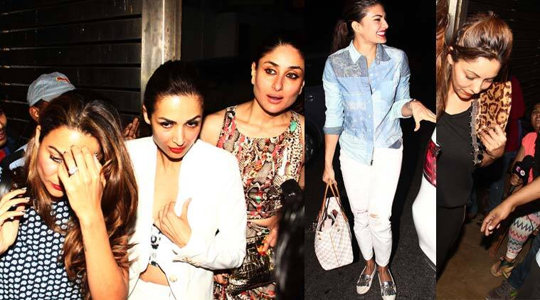 Kareena Kapoor, Jacqueline Fernandez, Malaika Arora Khan, Amrita Arora, Gauri Khan, Karan Johar, Zoya Akhtar party