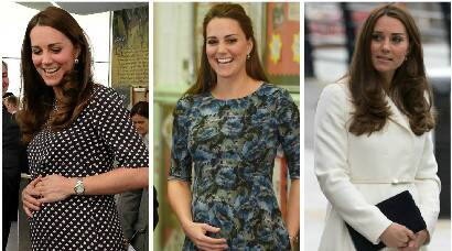 Heavily Pregnant, but there's no slowing down Duchess of Cambridge Kate Middleton
