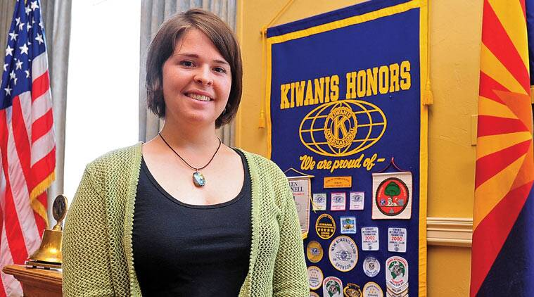 In this file photo, Kayla Mueller is shown after speaking to a group in Prescott, Ariz. The parents of an American woman held by Islamic State militants say they have been notified of her death. (Source: AP photo)