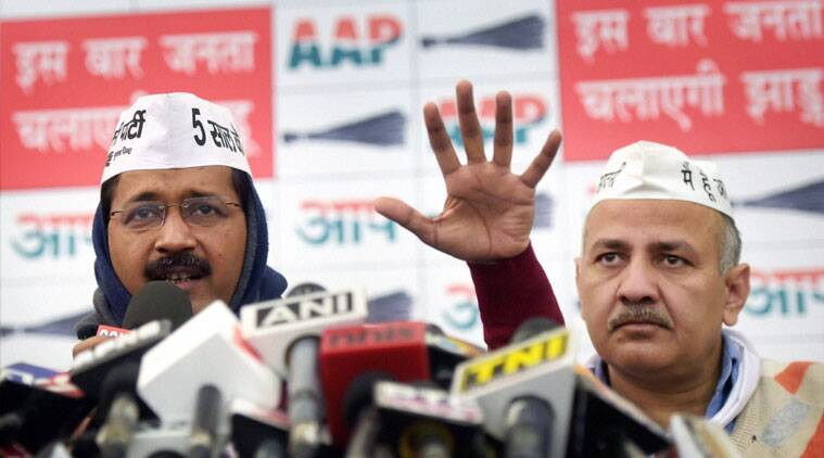 Delhi's new CM Arvind Kejriwal and his Deputy Manish Sisodia.