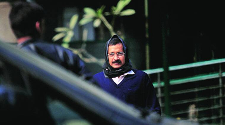 Kejriwal's health improved on Sunday with his fever coming down.(Source: Express Photo by Praveen Khanna)