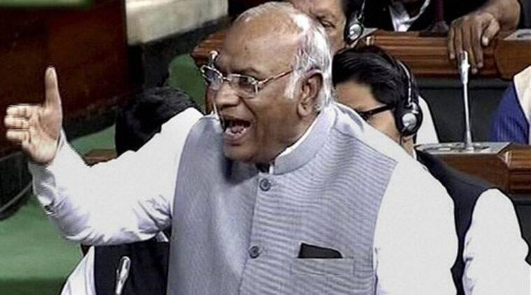 Image result for Congress leader Mallikarjun Kharge