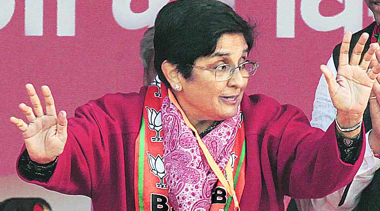 Kiran Bedi, Former IPS officer Bedi, Puducherry, kiran bedi puducherry governor, bjp kiran bedi, politics, new puducherry governor, new puducherry LG, pranab mukherjee, AIADMK, Puducherry assembly elections, Puducherry polls, Bedi, Former IPS officer Kiran Bedi, india news, latest news, indian express latest news