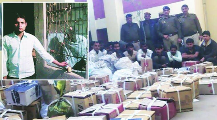 Police recovered 1,878 bottles of countrymade liquor, 154 bottles of English liquor and 315 beer bottles. (Source: Express Photo)