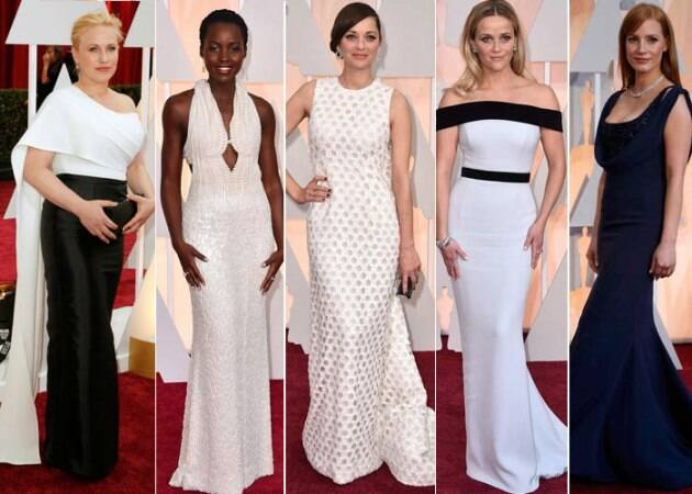 Patricia Arquette, Lupita Nyong'o, Marion Cotillard, Jessica Chastain, Oscars 2015, Oscars Awards 2015, Academy Awards, 87th Academy Awards