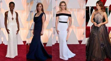Oscars 2015 fashion report: High collars and demure gowns on the Oscars red carpet