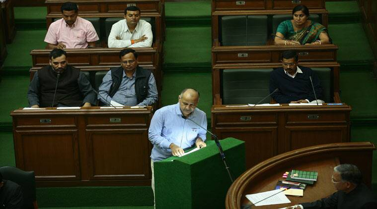 manish sisodia, manish sisodia oath taking, delhi assembly