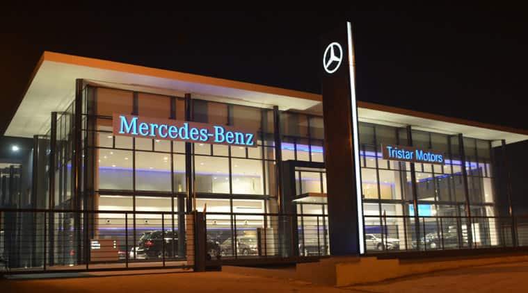 Mercedes Benz showroom.