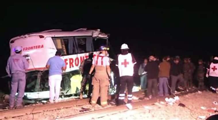 mexico bus train collision, mexico