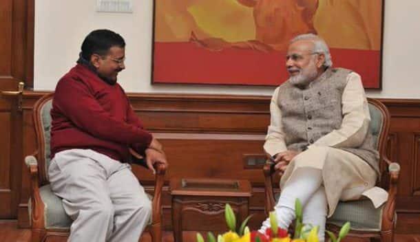 CM-deligate Arvind Kejriwal meets PM Narendra Modi