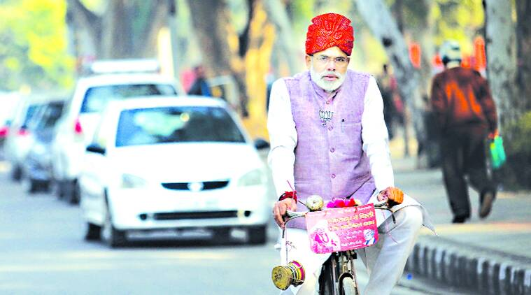 Narendra Modi, Modi lookalike, Abhinandan Pathak, Delhi Assembly elections