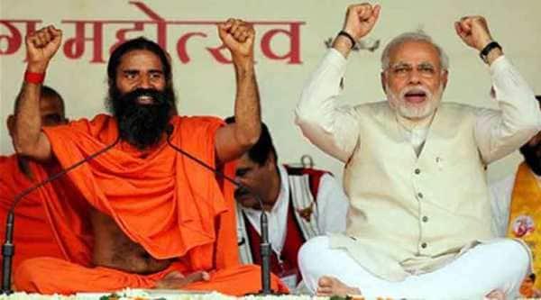 Yoga Guru Baba Ramdev with Prime Minister Narendra Modi