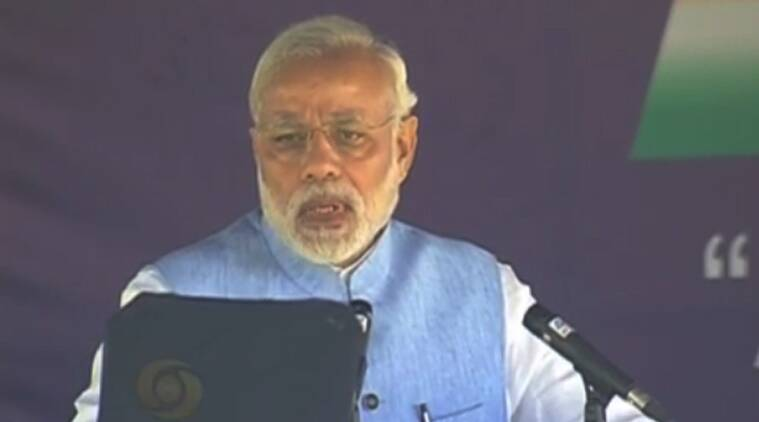 PM Narendra Modi addressing the inaugural gathering at Aero India. (Source: YouTube/Screen grab)