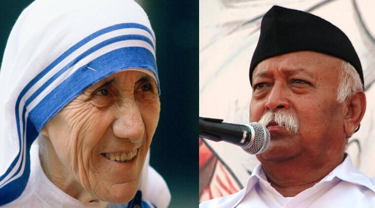 Mother Teresa, mohan bhagwat, RSS,  Ghar Wapsi, conversions, Christianity