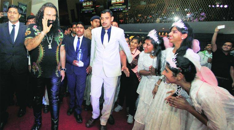 Gurmeet Ram Rahim Singh in New Delhi on Thursday. (Express Photo by: Amit Mehra)