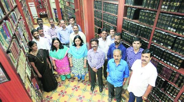 Bombay High Court library staff. (Ganesh Shirsekar)