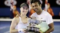 Paes-Hingis win Australian Open mixed doubles title