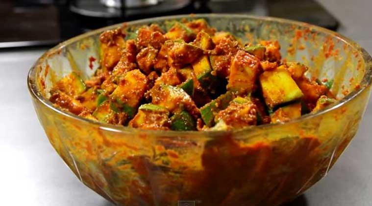 Raw mango pickle recipe the indian express raw mango pickle recipe source nishamdhulika forumfinder Image collections