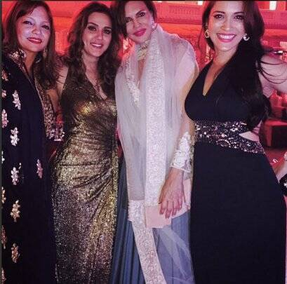 Preity Zinta, Deanne Pandey, Rashmi Nigam, Sanjay Hinduja wedding