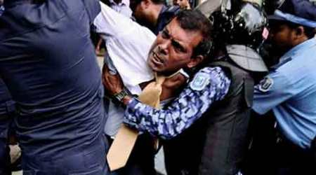 Mass protest in Maldives over Nasheed's arrest